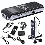 Hansee Dictaphone, Mini Voice Recorder, 8GB Stereo Recording Digital MP3 Player, Audio Recorder, Rechargeable