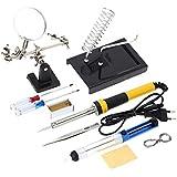 KKmoon - Kit soldador doméstico Z606220V-240V, 60W con 10 instrumentos de soldador, como lupa de aumento, hilo soldador, ventosa de soldar y colofonía