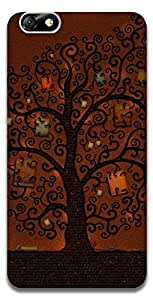 The Racoon Lean The book tree hard plastic printed back case / cover for Huawei Honor 4X