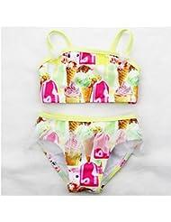 AMYMGLL Enfants maillot de bain bikini serrés les enfants élastiques haute protection de l'environnement source chaude maillot de bain européen et américain