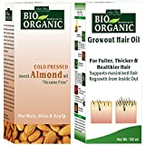 Indus Valley Bio Organic Combo Set of Organic Almond Oil 100ml & Re-Growth Oil 100ml for For Hair, Skin and Body Care