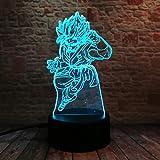 wangZJ Led Veilleuses/Lampe de table de chevet illusion 3d / 7 couleurs changeant de...