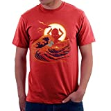 Surfing With The Alien Silver Surfer Great Wave Of Kanagawa Men's T-Shirt