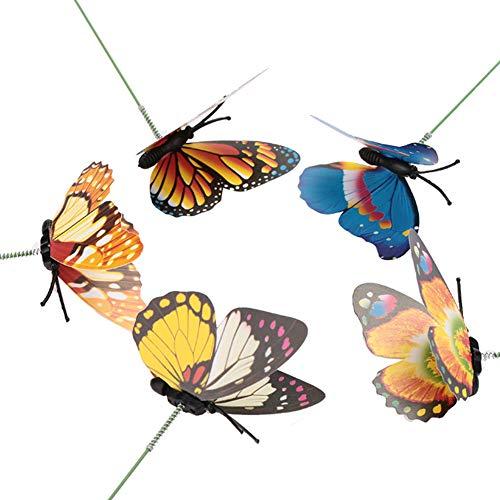 Sedeta 225 STÜCKE Zufällige Farbe 3D Schmetterling Weihnachten Garten Ornament Rasen Dekoration Stakes Außen Hof Pflanzer Blumentopf Bett Garten Decor Kunst DIY Frühling gefühl Kreative
