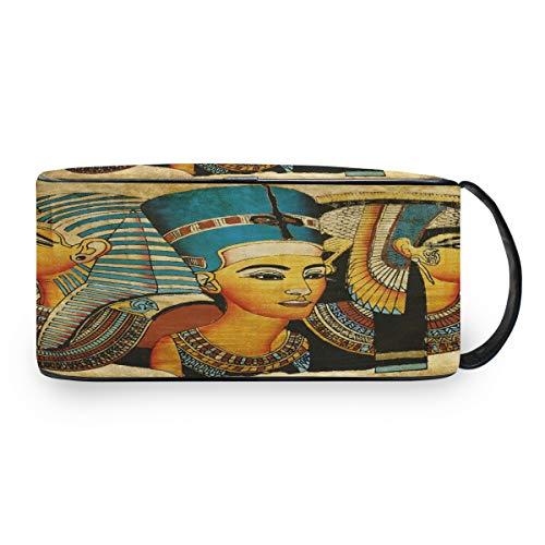 QMIN - Neceser portátil diseño pergamino Egipcio