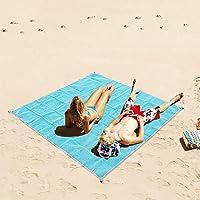 Codomoxo® Magic Sand Free Toallas de playa libre de arena, PVC, 1,5 x 2 m, para picnic, camping, playa, color mate, azul