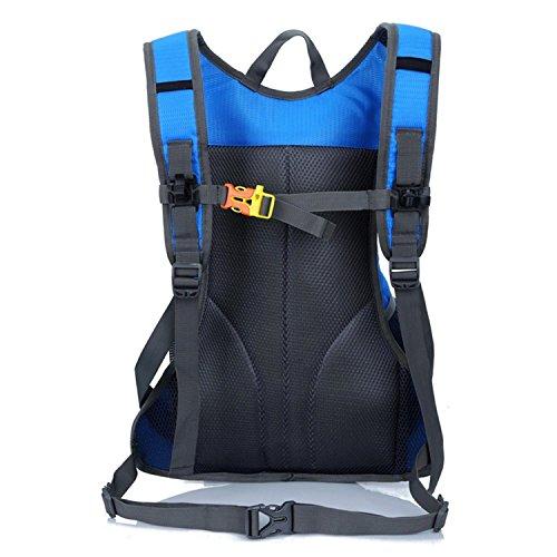 HWJF Reiten einer Fahrradtasche Outdoor Reittasche Wasser Tasche Männer und Frauen Schultern Bergsteigen Rucksack Blue
