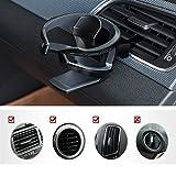 UMISKY Porte-gobelet de voiture, support réglable sur grille d'aération de voiture, porte-bouteille intelligent, amovible et universel pour sodas, eau, café