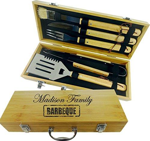 Grill Set: 5 Stück Werkzeug Set. BBQ