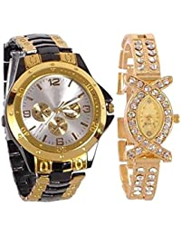 Maan International Analogue Multi-Colour Dial Men'S And Women'S Watch-M-Combo-Rosra+Aks0902