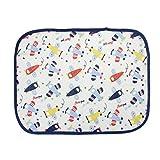FakeFace Baumwolle Bettunterlage Inkontinenz Auflage Wasserdicht Saugfähig Maschine Waschbar für Baby Kleinkind Erwachsene 45 x 35cm (Flugzeug)