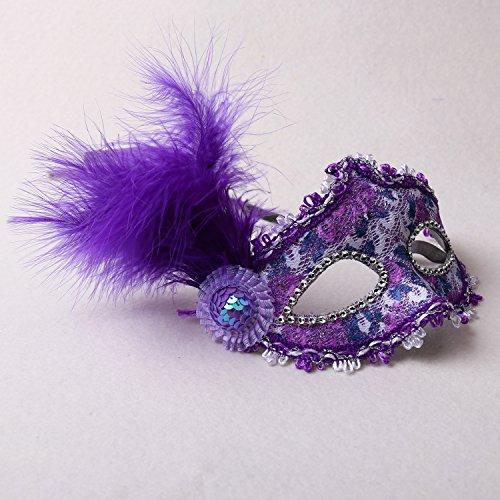 Driverder Halloween Maskerade gemalt Patch Prinzessin Party Maske (lila)
