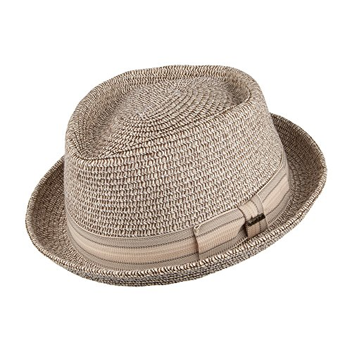 chapeau-pork-pie-diamond-crown-marron-scala-medium