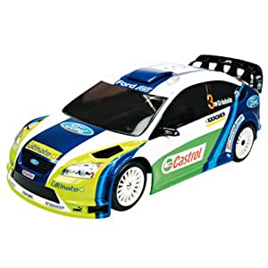 Radio Remote Controlled Ford Focus WRC 2006 (1:16 scale by Nikko) in Blue, White and Green