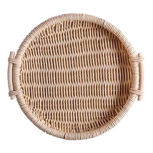 Panier de pique-nique panier de rangement en rotin panier portable