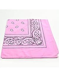 Rose pâle-Accessories bandana en coton Motif cachemire noir et blanc