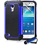 ihomegadget Shock Proof case cover for Samsung Galaxy S4 Mini i9190 + FREE screen protector and cleaning cloth - Deep Blue