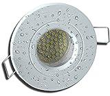 1 Stück IP54 SMD LED Bad Einbaustrahler Rain 12 Volt 5 Watt Weiß/Warmweiß