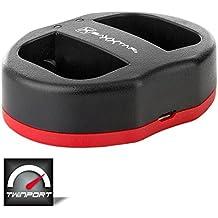 Baxxtar USB Dual cargador TWIN PORT 1823/2 para la batería Canon LP-E6 LP-E6N a Canon XC10 XC15 EOS 80D 70D 60D 60Da 6D 7D 7D Mark II 5DS 5D R 5D Mark II III IV etc.