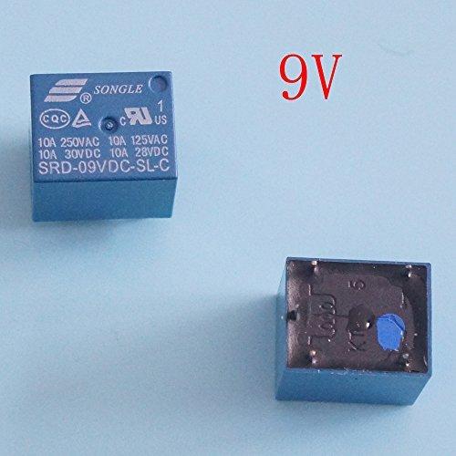 Mini 9V DC songle Power Relay srd-9vdc-sl-c PCB Typ 5Stück - 3 Power Distribution Block