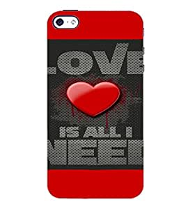 PrintDhaba Quote D-4116 Back Case Cover for APPLE IPHONE 5 (Multi-Coloured)