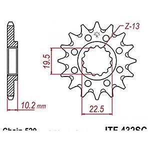 Pignon anti-boue acier 14 dents jt chaîne 520 suzuki rm... - Jt sprockets 460003