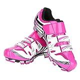 Dioche Zapatillas Ciclismo Carretera Mujer, Zapatillas de Ciclismo de Carretera Antideslizantes para MTB Mountain Bike Pink(38)