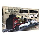 #8: Wembley Classic Steam Engine Train set - 34 pieces with Oil Tanker & Passenger car