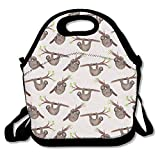 Caps big Lunch Tote Bag Cute Sloth Insulated Lunch Box Food Bag Pouch Tote Bag for Adults, Kids School Work Picnic Reusable Container Neoprene