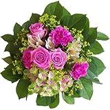 Blumenversand vom Besten! - Blumenstrauß - Magic Pink - mit Hortensie und pink Rosen und Nelken - mit Grußkarte deutschlandweit versenden