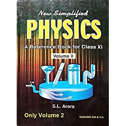 new simplified physics A reference book for class 11 vol 2 by sl arora
