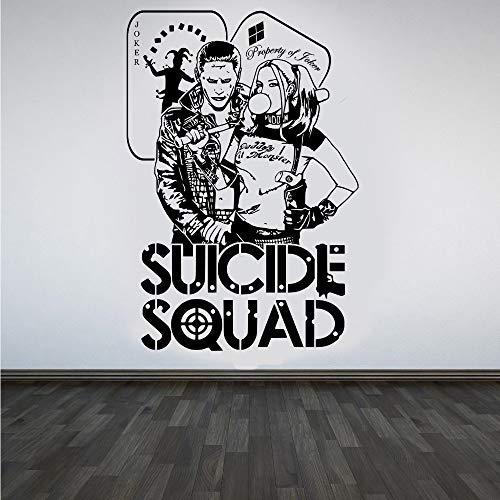 jiuyaomai Zitate Selbstmord Squad Wandtattoo & Joker Dc Aufkleber Für Kinder Schlafzimmer Vinyl Kunstwand Task Force X Wohnkultur S 42x62 cm -