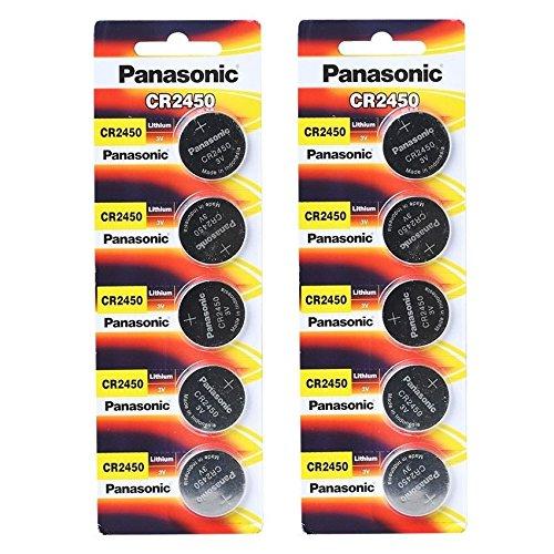 3-Volt-Lithium-KnopfzelleCR2450von Panasonic -10Batterien -