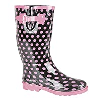 StormWells Womens/Ladies Strap V-Gusset Wellingtons