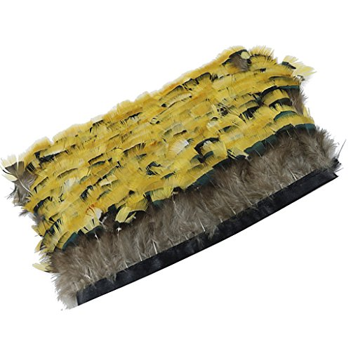 MagiDeal 1 Yard Natural Feather For Jewelry Hair Ornaments Handicrafts Accessories Making Props Making Headwear DIY Craft Supplies Yellow 5-8CM