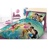Unbekannt Faro, Disney Fairies, Trilli, set di lenzuola 160x 200,cotone Öko Tex, multicolore, 200x 160cm