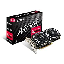 MSI Radeon RX 570 ARMOR OC 4 GB GDDR5 3xDP/HDMI/DVI-D Graphics Card - Black
