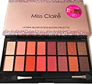 Miss Claire Miss Claire Ultra Glow Eyeshadow Palette 1, Multi, 16 grams, Multicolor, 16 g