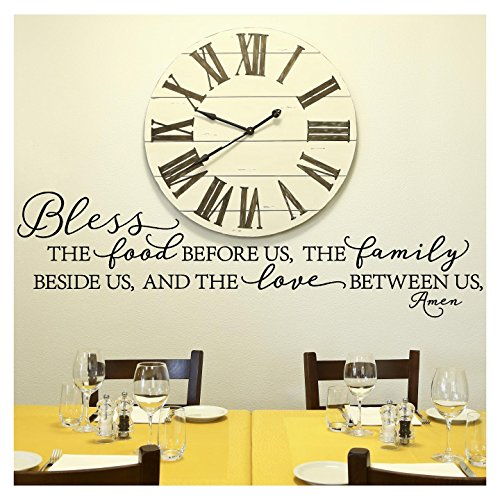 Bless The Food Before US, The Family Beside US, and the Love Between Us, Amen, Vinyl Schriftzug Wand Aufkleber (Bridal Artikel Shower)