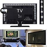 Guilty Gadgets  - Tira de Luces LED para televisor (1 m, Funciona con USB), Color Blanco