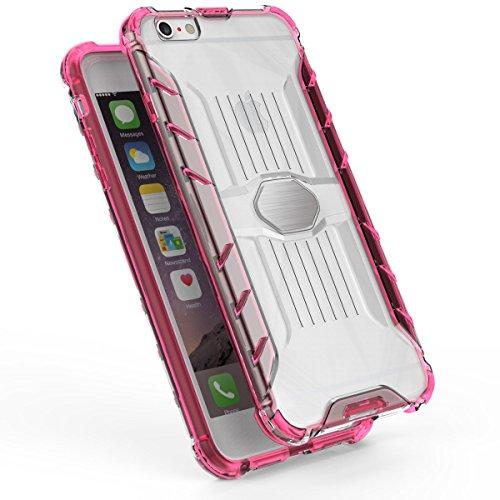 iPhone 6 Plus/6S Plus 5.5 Hülle, Voguecase Transparent Schutzhülle / Case / Cover / Hülle / 2 in 1 TPU + PC für magnetischen Auto Mount Gel Skin für Apple iPhone 6 Plus/6S Plus 5.5 (Schwarz)+ Gratis U Gelb