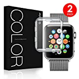 G-Color Apple Watch 42mm Funda/Protector de Pantalla, [2 Unidades], Ultra Transparente, TPU, Serie 1 2 3, Protector Pantalla para Apple Watch 42mm Hermès/Nike+ Edition