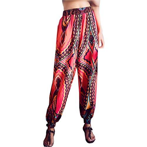 Preisvergleich Produktbild Yvelands Pluderhose Harem-Stil Sommerhose All Over Print Freizeithose Aladinhose Hose