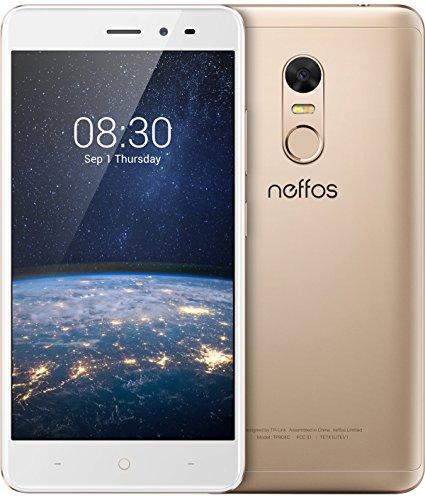 TP-Link Neffos X1 Lite 4G LTE Smartphone, 5 Zoll HD Display (12,7cm), 16GB Speicher, Dual Sim, 13 MP Kamera, Android 7.0, Sunrise Gold