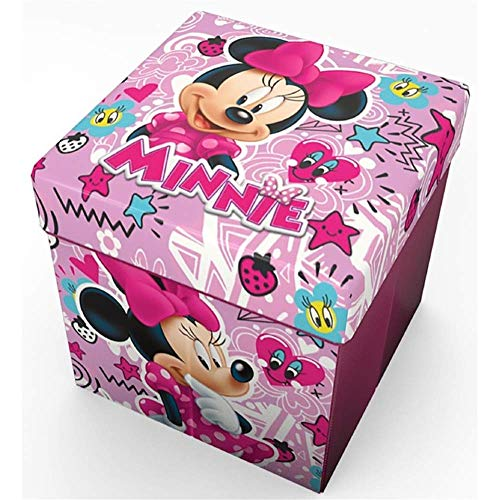 Pouf Disney Contenitore con Cuscino 30 x 30 cm disponibile con Diversi Personaggi Principesse