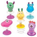 Baker Ross Springende Monster-Wackelköpfe - Spielzeug für Kinder als Mitgebsel und Preis beim Kindergeburtstag - 6 Stück