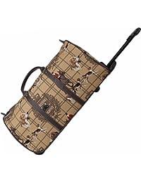 Bolsa de viaje tapiz Signare con ruedas/Equipaje de viaje trolley de asa retráctil Caza