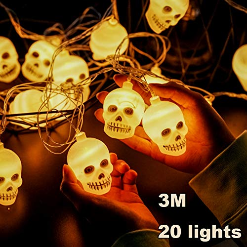 Hexe Schalter Kostüm - FreF Halloween Deko Laterne 3m 20 LEDs Lampions Kürbis Skelett Chinesische Laternen Led Lampions für Halloween Deko Innen und Außen Party Garten Dekoration,B