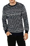 Threadbare Pullover lavorato a maglia, tema: natalizio, per adulti Dashwood Xmas - Navy Taglia-L-107 cm- 112 cm petto
