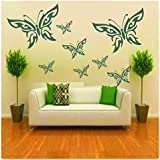 Kayra Decor Butterflies Reusable DIY Wall Stencil Painting for Home Decoration (PVC, 16-inch x 24-inch)